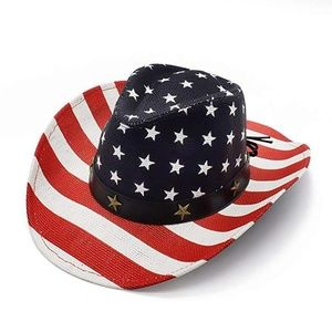 Accessories - American Flag Cowboy Hat